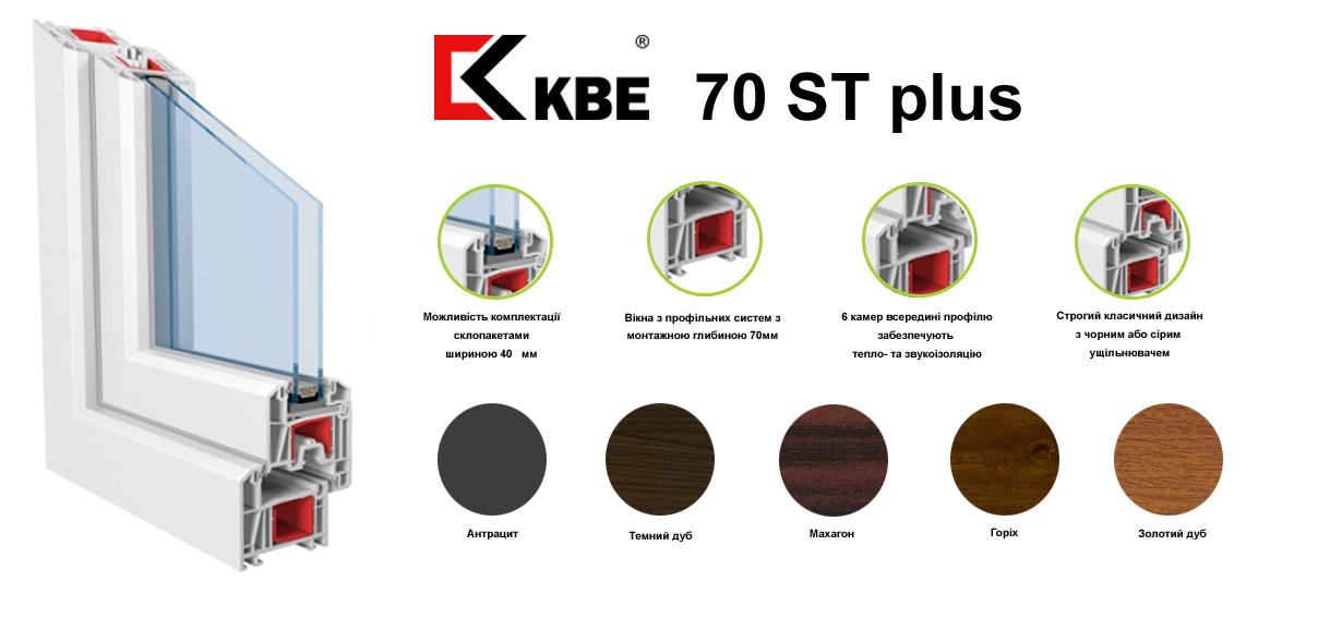Металопластикові вікна KBE 70st plus