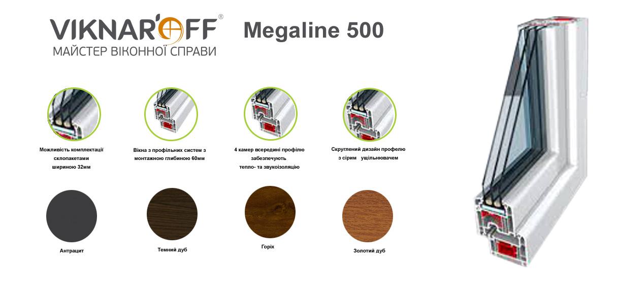 Металопластикові вікна Megaline 500